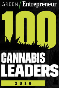 2018 Cannabis Leader Award from Green Entreprenuer